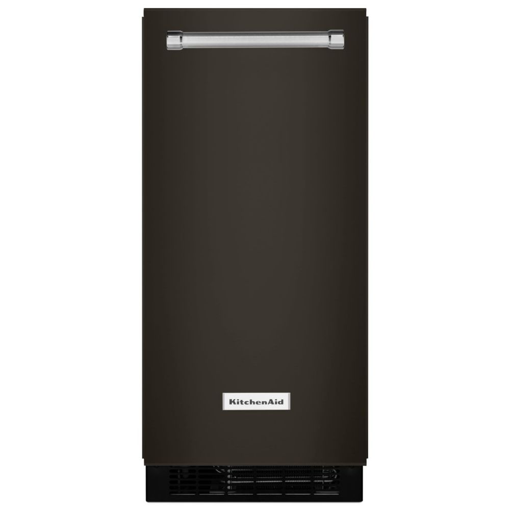 Black Stainless, 15 Inch Automatic Ice Maker