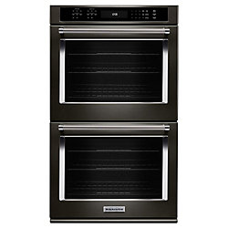 KitchenAid 30-inch 10 cu. ft. Double Electric Wall Oven Self-Cleaning with Convection in Stainless Steel