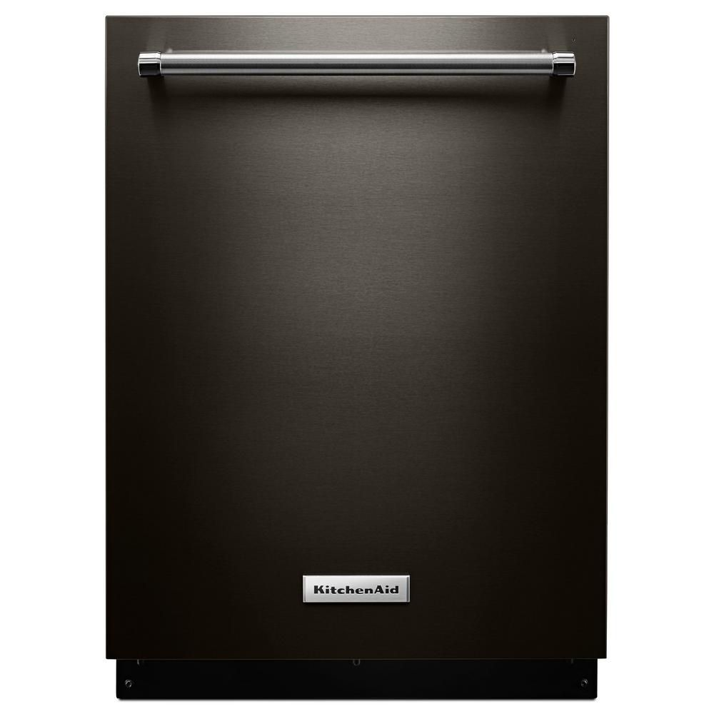 KitchenAid 24-inch, 44 Dba Top Control Dishwasher in Black Stainless Steel - ENERGY STAR®