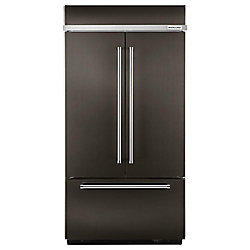 KitchenAid 42-inch W 24.2 cu. ft. Built-In French Door Refrigerator in Black Stainless Steel with Platinum Interior - ENERGY STAR®