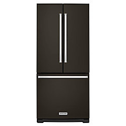 30-inch W 20 cu.ft. French Door Refrigerator in Black Stainless Steel