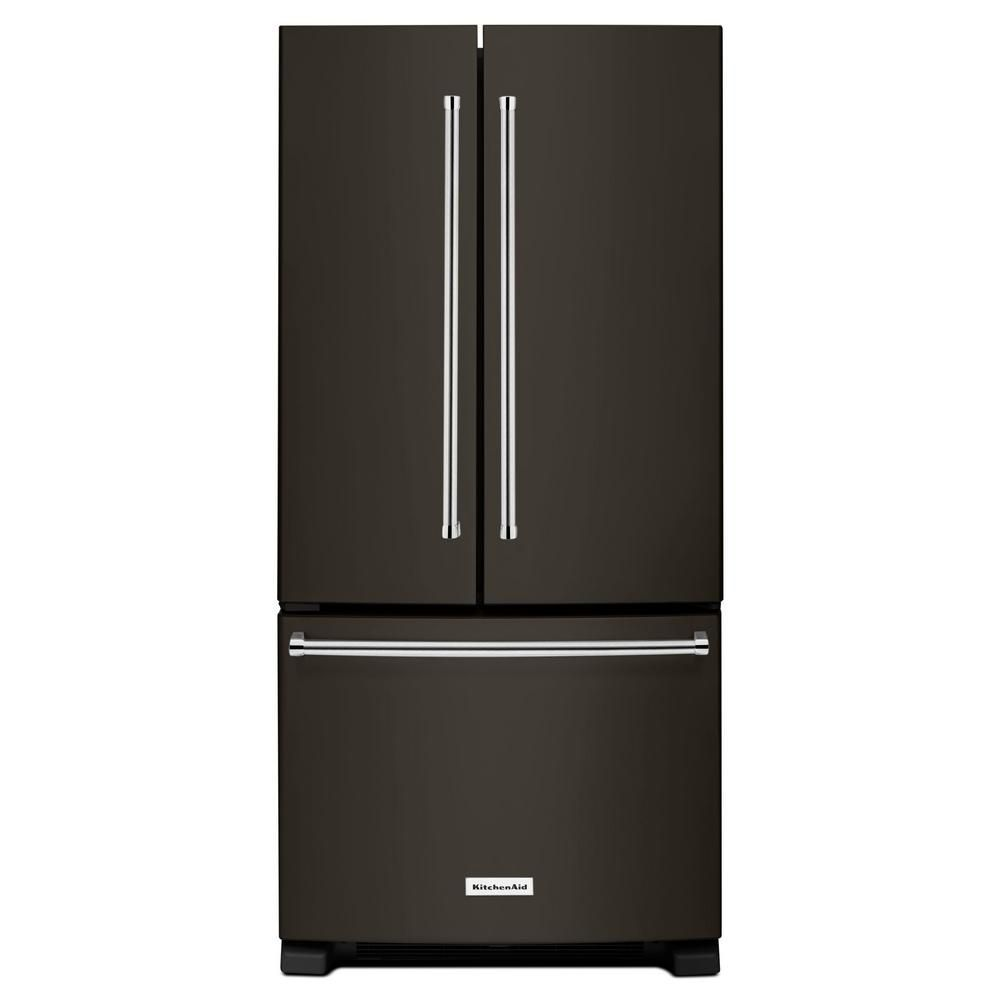KitchenAid 33-inch W 22 cu. ft. French Door Refrigerator in Black Stainless Steel - ENERGY STAR®