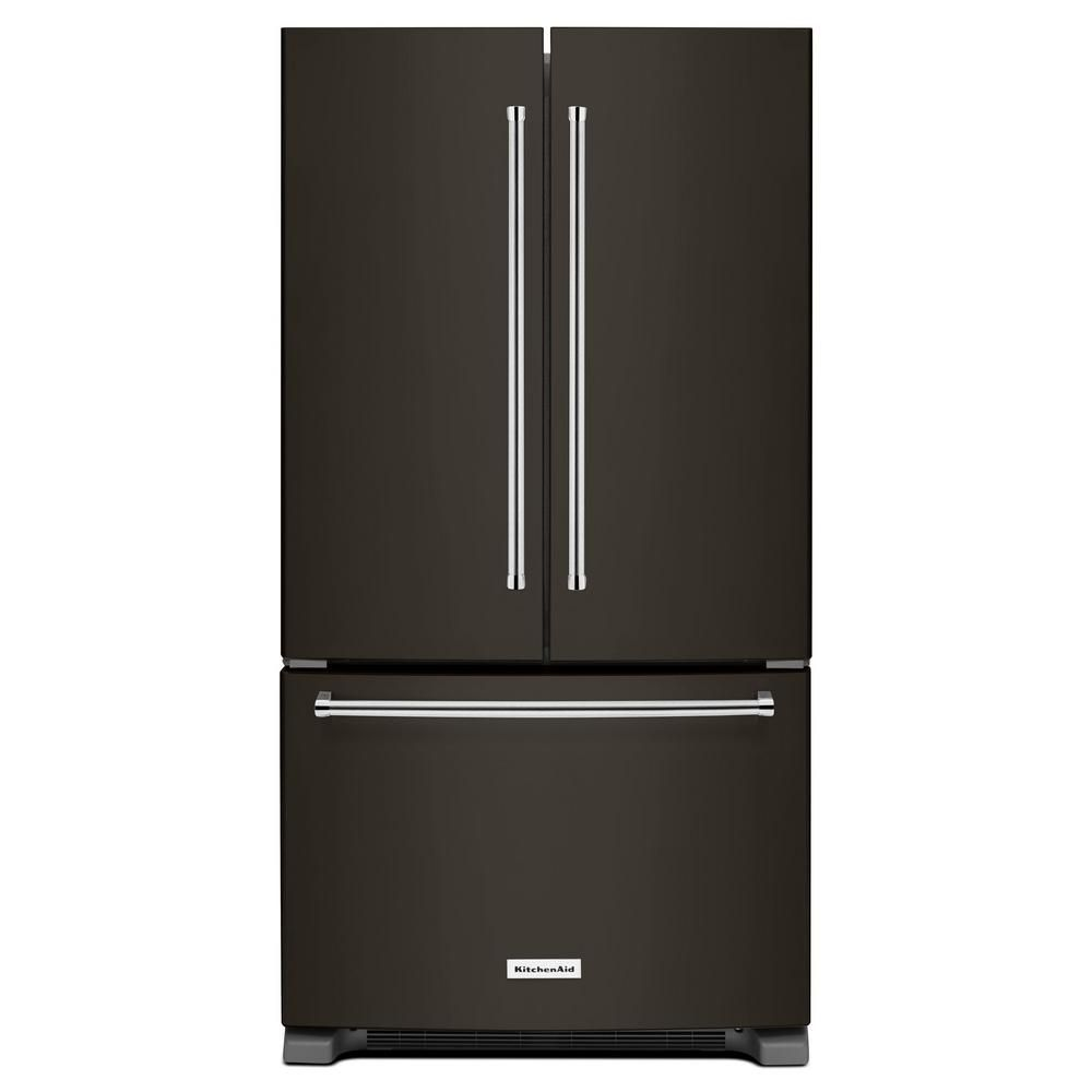 KitchenAid 36-inch W 25 cu. ft.  French Door Refrigerator in Black Stainless Steel - ENERGY STAR®