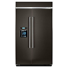 48-inch 29.5 cu. ft. Built-In Side-By-Side Refrigerator in Black Stainless Steel - ENERGY STAR®