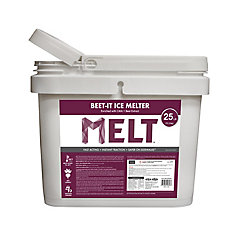 MELT 25 Lb. Bucket Beet-It Ice Melter w/ CMA & Beet Extract