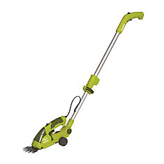 Cordless 2-in-1 Grass Shear + Hedge Trimmer with Extension Pole