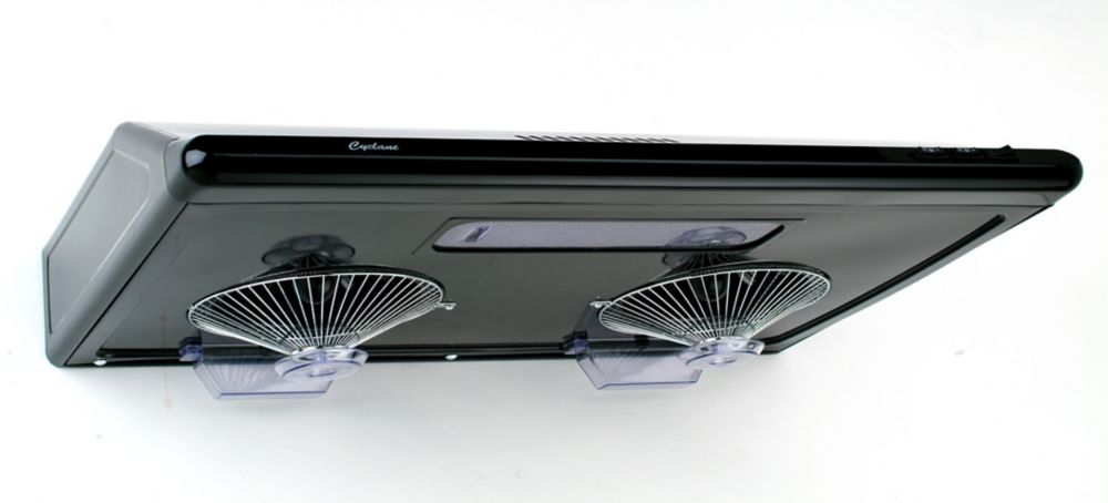 30-Inch, 680 CFM Undermount Range Hood With Round Ducting In Black