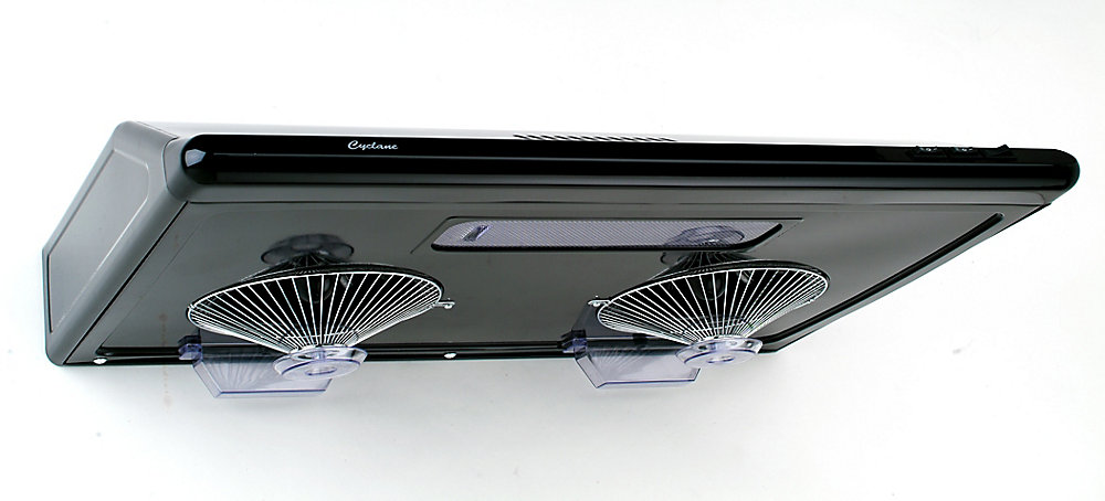 30-inch, 680 CFM Undermount Range Hood with Round Ducting in Black