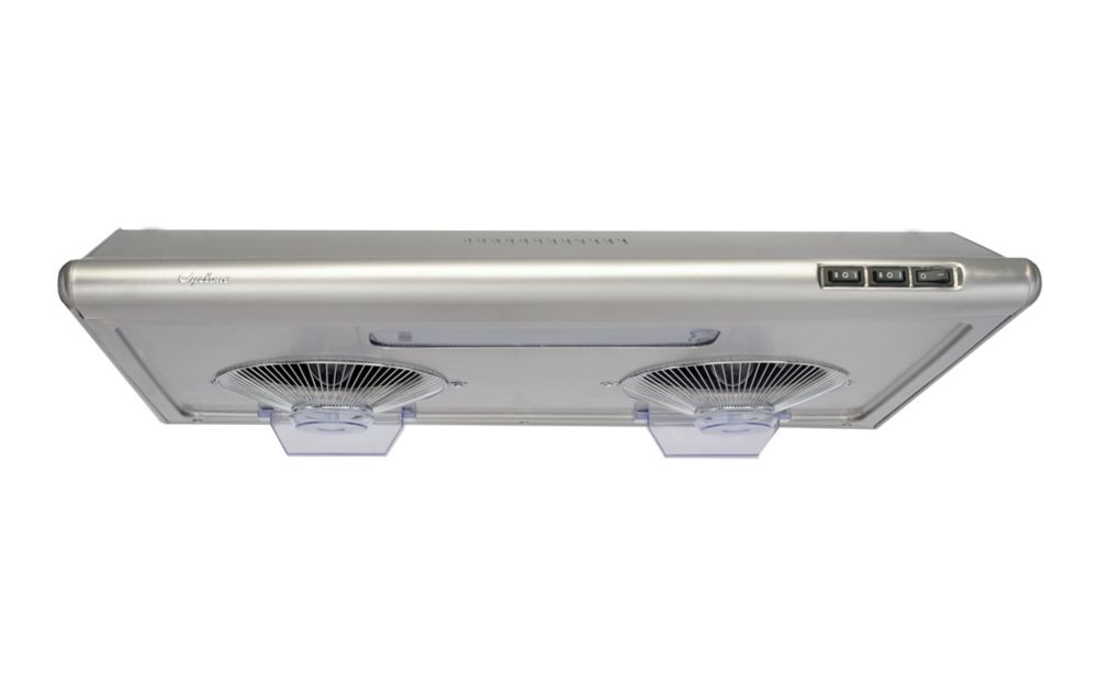 Cyclone 30-inch 680 CFM Undermount Range Hood with Round Ducting in Stainless Steel