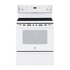 30-inch 5.0 cu. ft. Single Oven Electric Range with Self-Cleaning in White