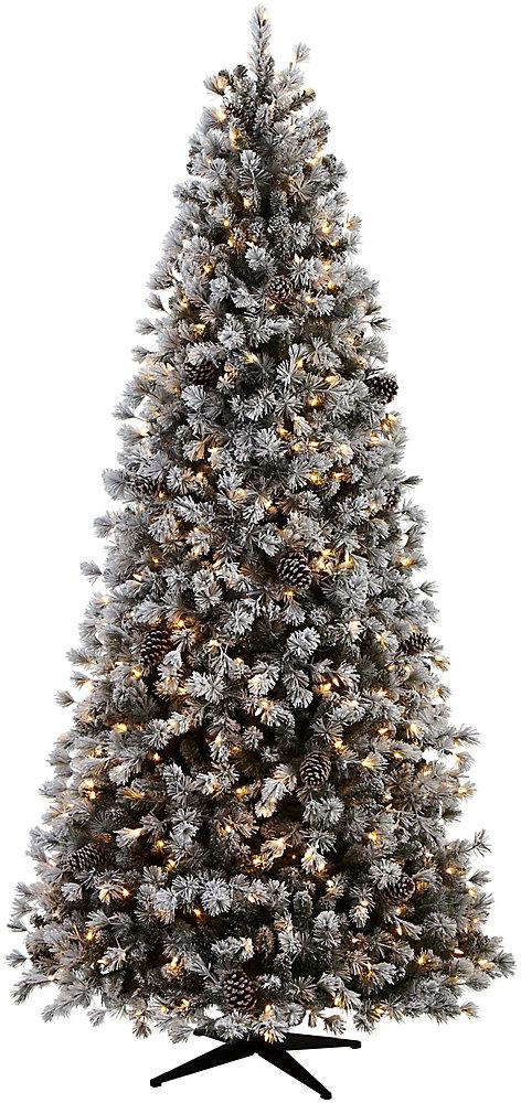 Arbre de Noël artificiel floqué illuminé, 1 774 ramifications, 9 pi