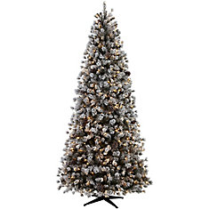 9 ft Lexington Quick Set Tree with Flocking