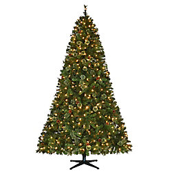7.5 ft. Pre-Lit LED Alexander Pine Artificial Christmas Tree with 550 Warm White Lights