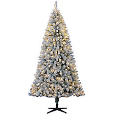 7.5 ft. White River Flocking Christmas Tree