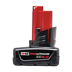 M12 12V Lithium-Ion 6.0Ah XC Extended Capacity Battery Pack
