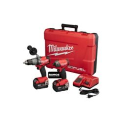 Milwaukee Tool M18 FUEL 18V Lithium-Ion Brushless Cordless Surge Impact and Hammer Drill Combo Kit (2-Tool) w/ (2) 5.0Ah Batteries