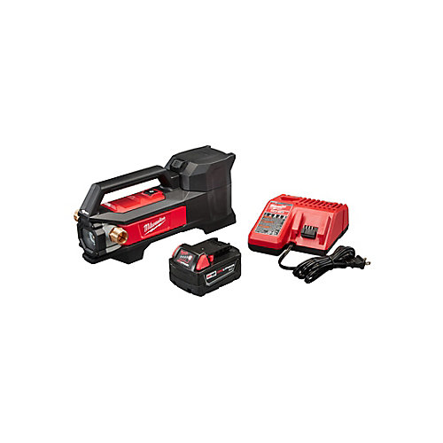 M18 18V 1/4 HP Lithium-Ion Cordless Transfer Pump Kit with (1) 3.0Ah Battery and Charger