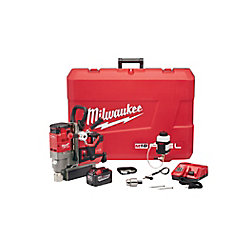 Milwaukee Tool M18 Fuel 1-1/2-inch Lineman Magnetic Drill HD Kit