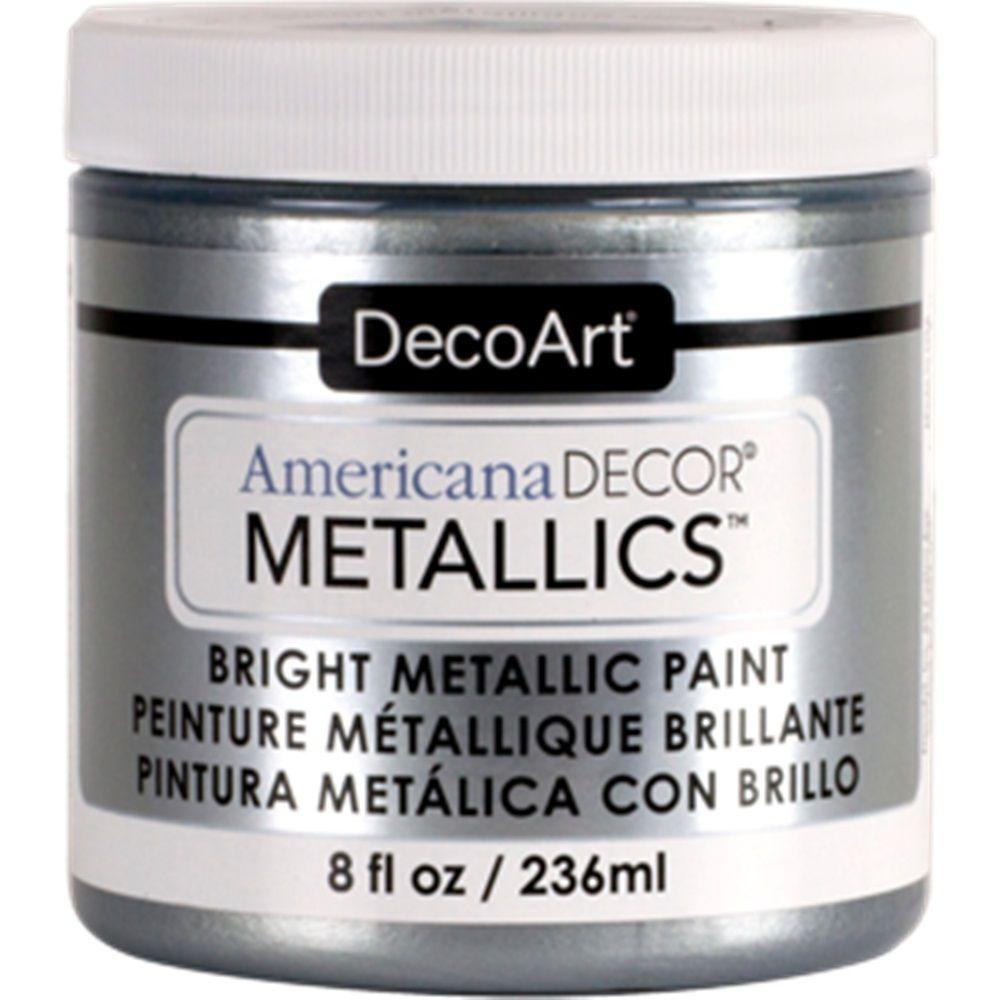 DecoArt Metallic Paint 8oz -Silver
