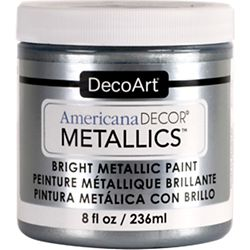 DecoArt Metallic Paint 8oz -Silver