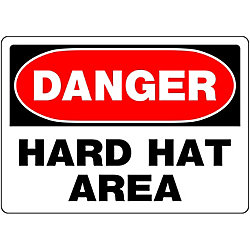 Hillman 10 X 14 Danger Hard Hat Area