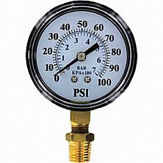 Jauge de pression, 0-100 psi