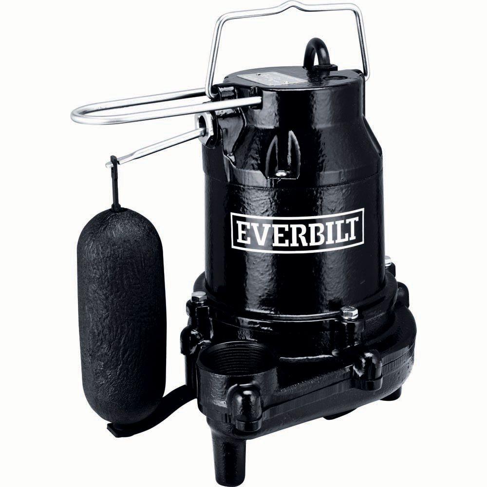 Everbilt 1/3 HP Cast Iron Sump Pump