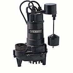 Pompe de puisard, 3/4 HP, fonte