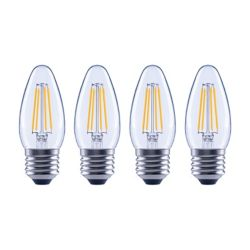 Ecosmart 60W Equivalent Daylight (5000K) B10 Dimmable LED Light Bulb (4-Pack) - ENERGY STAR