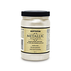 Rust-Oleum Metallic Accents Water Based Metallic Finish In White Pearl, 946 mL