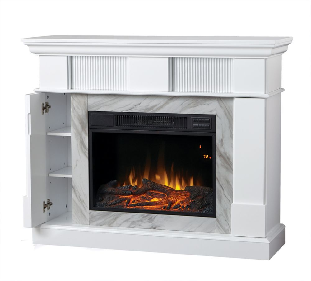 Home Decorators Collection Electric Fireplace with 45-inch Mantel