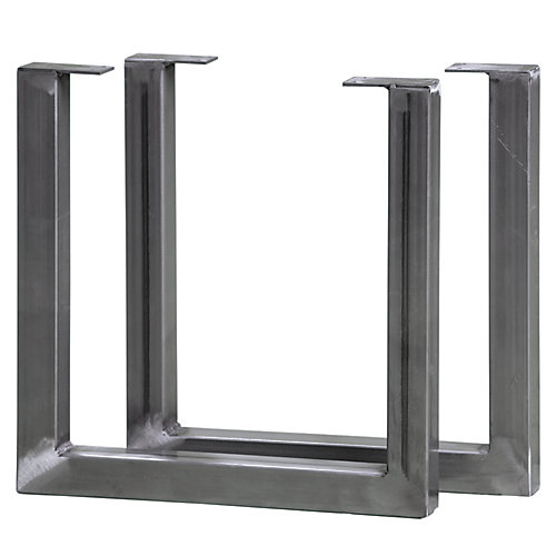 Pieds de meubles, acier, 15 po H, paquet de 2