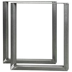 28-inch High Steel Furniture Legs (2-Pack)