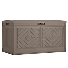 Large 10.7 cu. ft. Resin Wood Look Deck Box