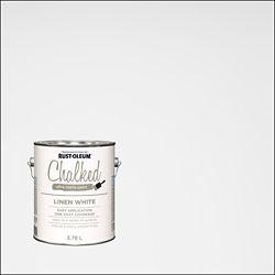 Rust-Oleum Peinture Ultra Mate Crayeuse En Blanc Lin - 3.7 L