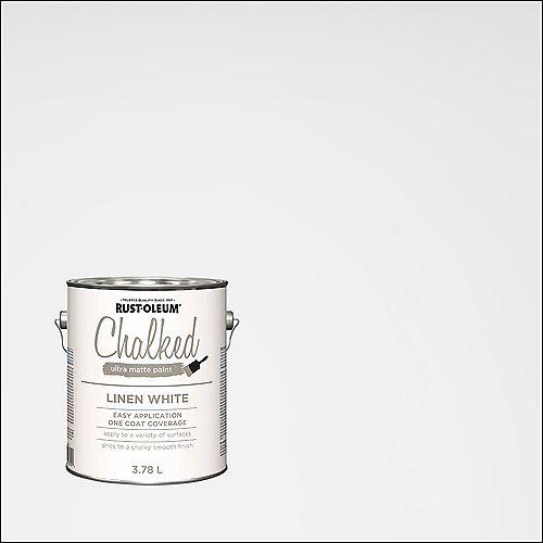 Rust-Oleum Chalked Ultra Matte Paint In Linen White, 3.7 L