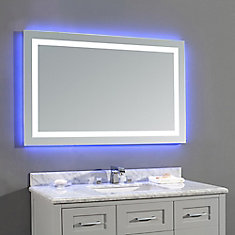 Bluetooth Bathroom Mirror Youtube shop bathroom mirrors at homedepot.ca | the home depot canada