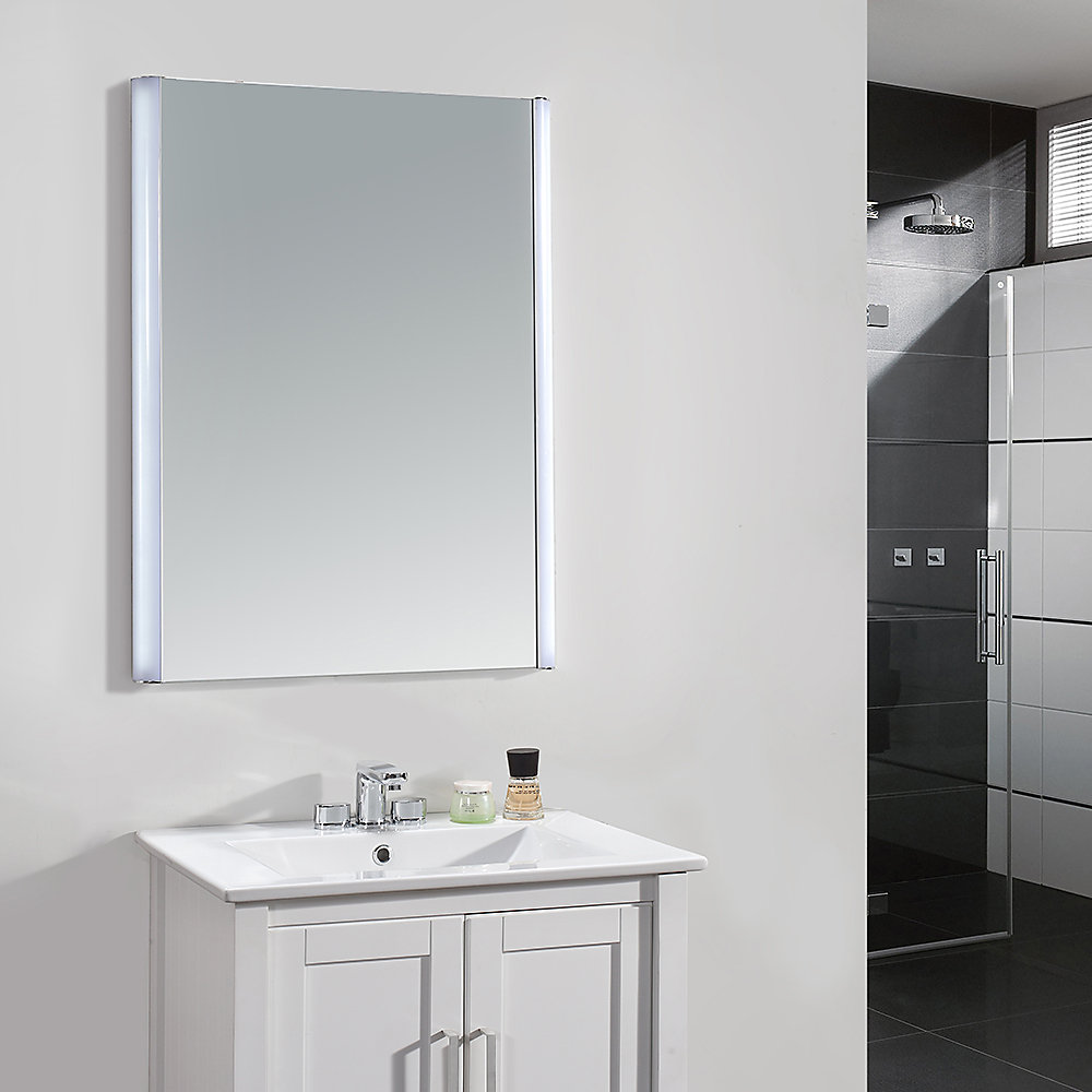 Fine 24 Inch X 34 Inch Led Frameless Single Wall Mirror Download Free Architecture Designs Sospemadebymaigaardcom