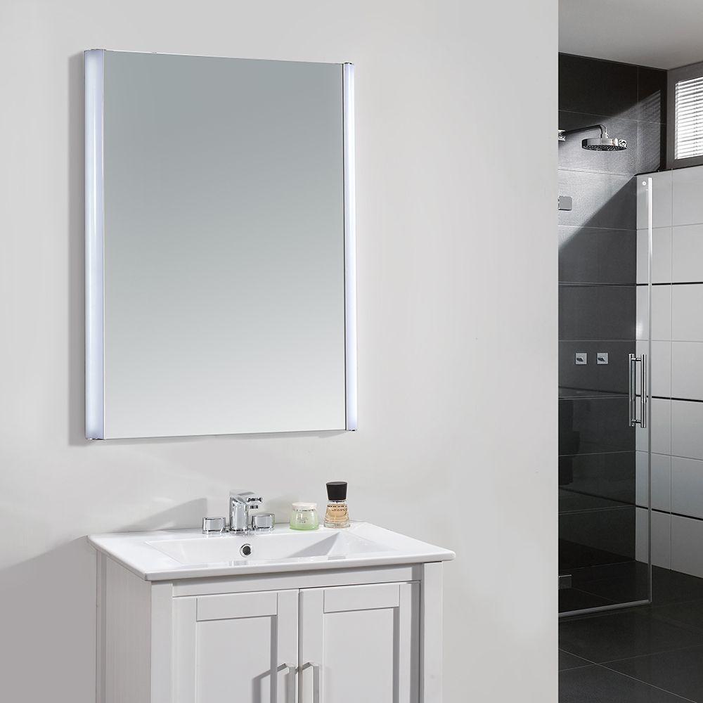 24 Inch X 34 Inch LED Frameless Single Wall Mirror