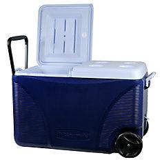 71 L Blue Wheeled Cooler