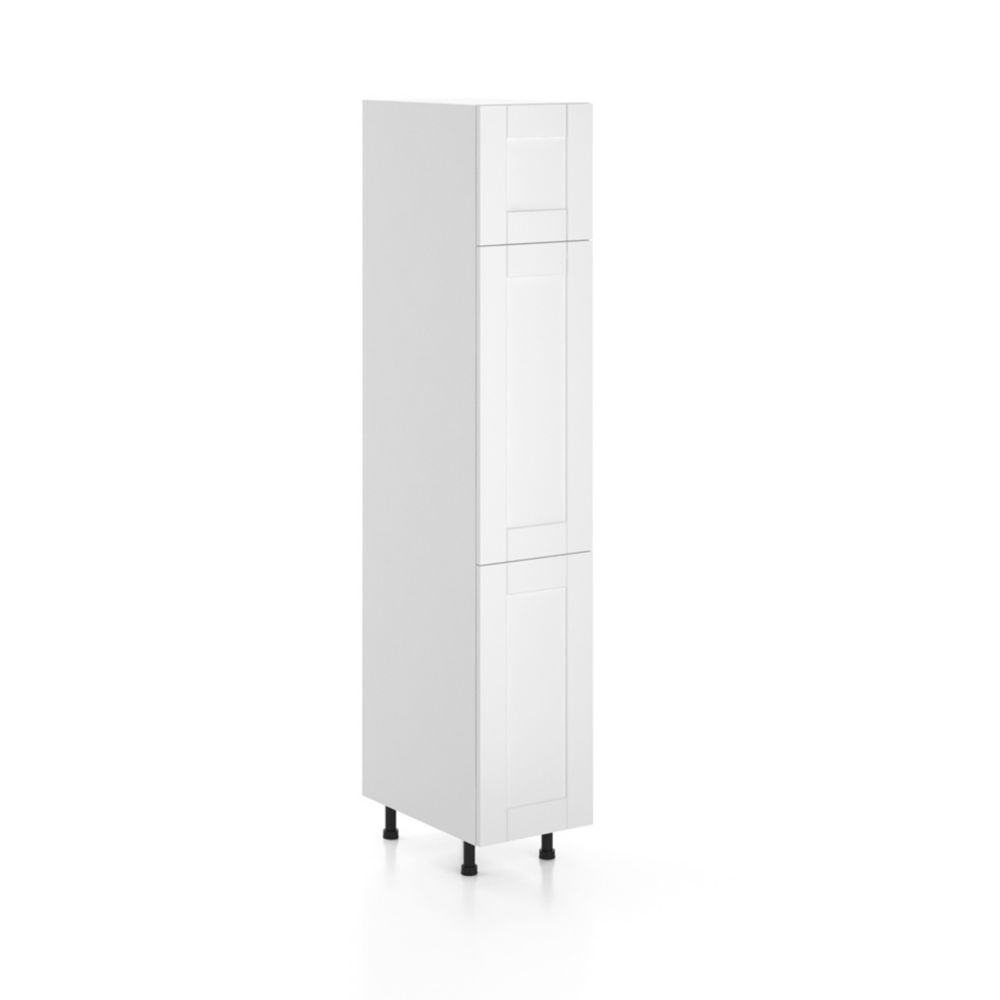 Eurostyle Microwave Cabinet 24 X 17 5 8 Melamine White The Home Depot Canada
