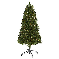 5 ft. Pre-Lit Cliffside Artificial Christmas Tree with 200 Clear Lights
