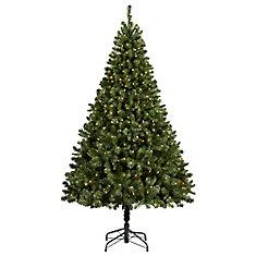 pre lit cliffside artificial christmas tree - Artificial Christmas Trees Home Depot