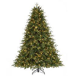 Home Accents Holiday Arbre de Noël artificiel illuminé avec 7 effets lumineux, 7,5 pi
