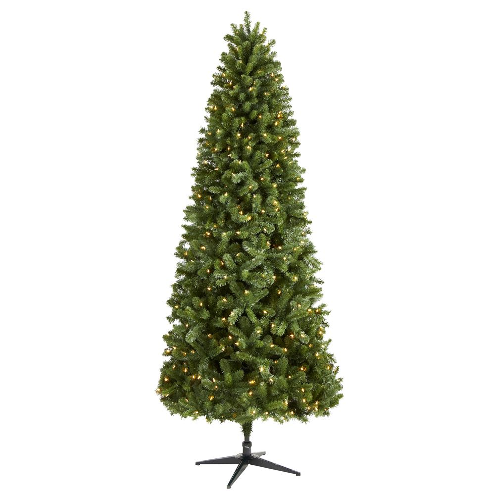 9 ft. Pre-Lit LED Grand Duchess Slim Pine Artificial Christmas Tree with 450 Warm White Lights
