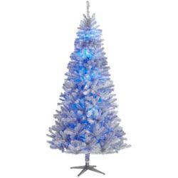 Home Accents Holiday Arbre de Noël artificiel illuminé style rétro Quick Set télécommandé avec roue de couleurs, 7,5 pi