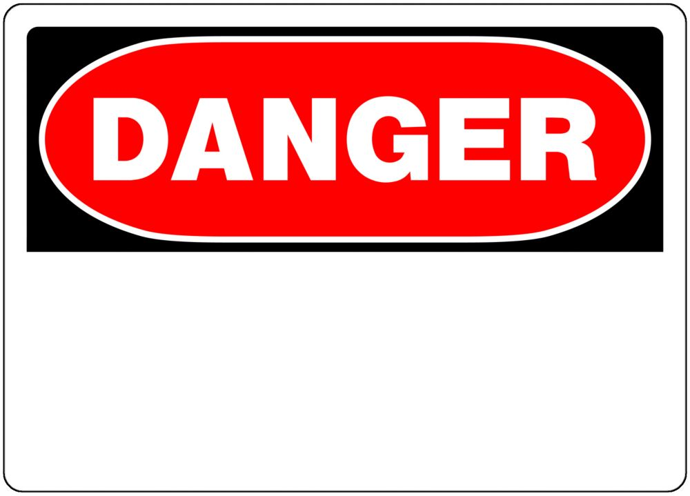 Hillman 10 X 14 3-Pack Danger Sign