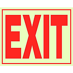 8 X 11 - Exit Glow Self Adh Exit
