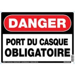 Hillman 10 X 14 Danger Port Du Casq (Danger Hard Hat Area)