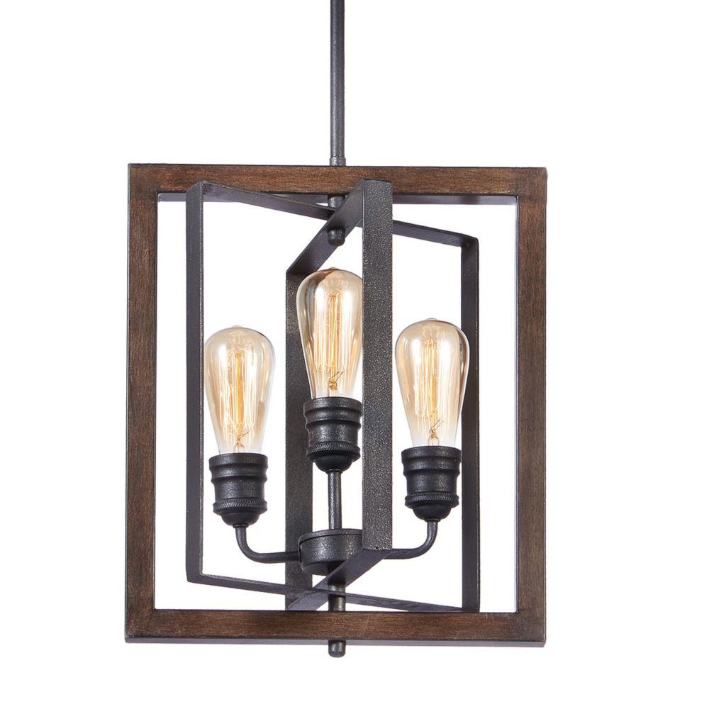 Ceiling lights kitchen bedroom more the home depot canada palermo grove collection 3 light gilded iron pendant greentooth Images